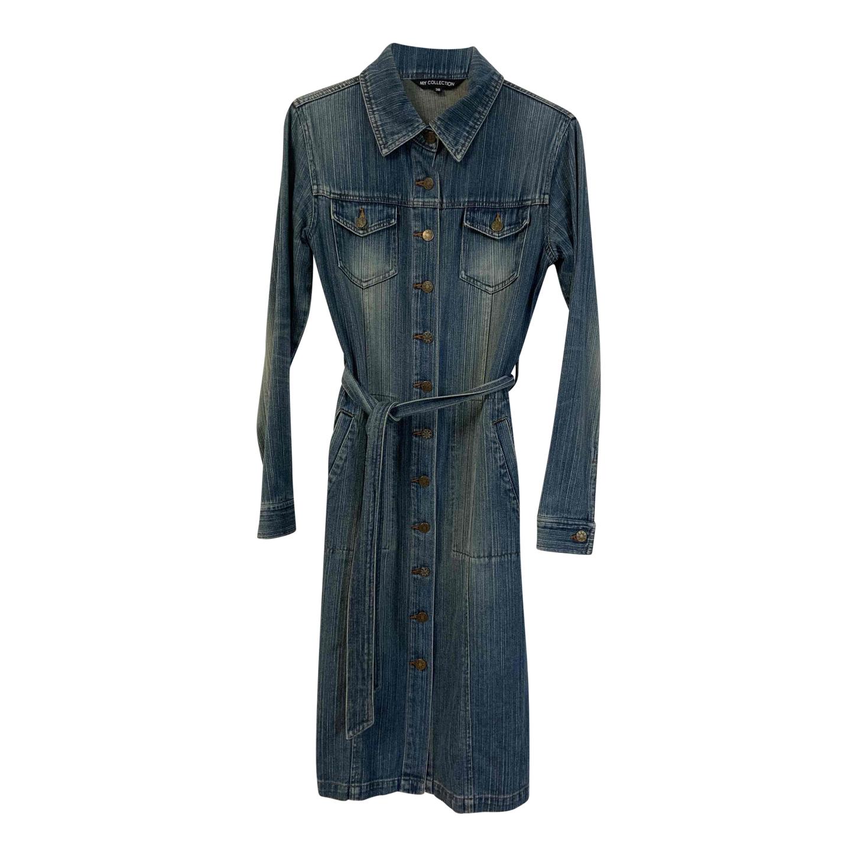 Robe en jean ceinturée