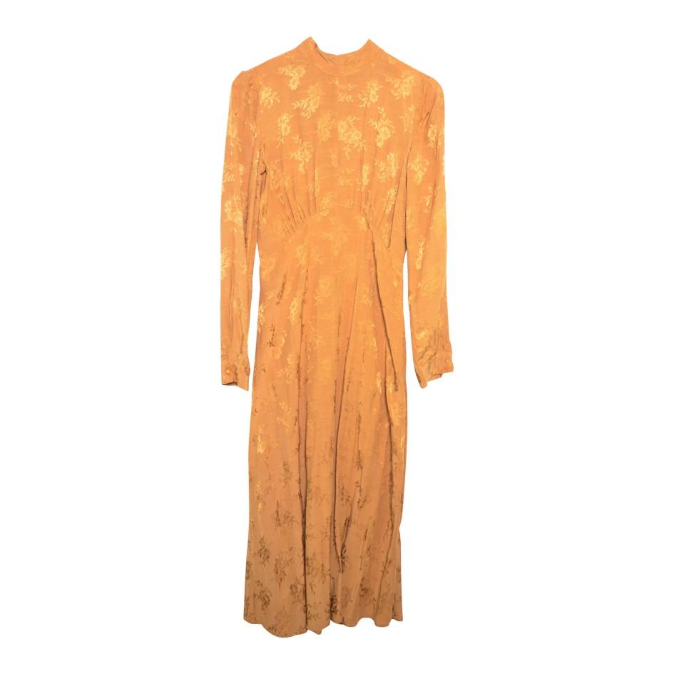 Robe longue camel