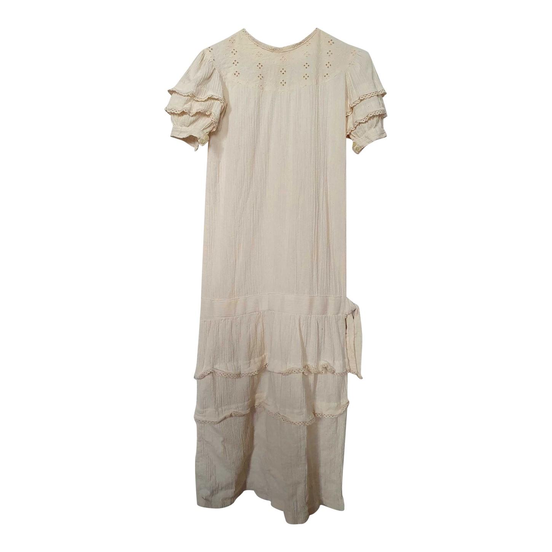 Robe longue en coton