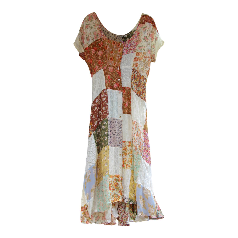 Robe longue patchwork