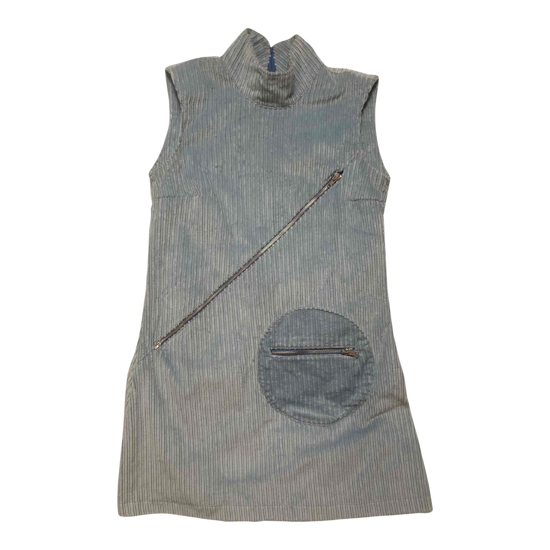 Robe trapèze en velours côtelé