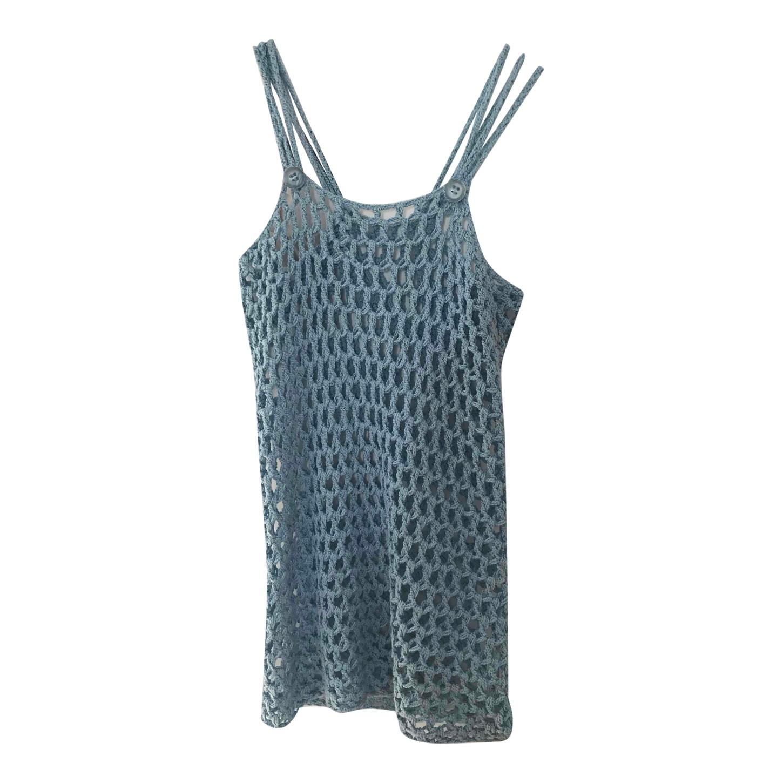 Robe turquoise en crochet
