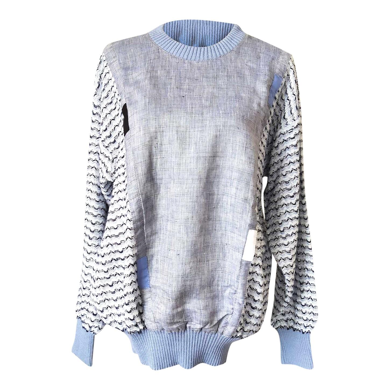 Sweat-shirt en lin et coton