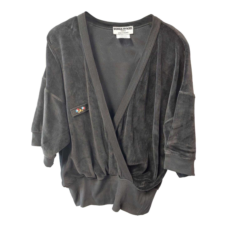 Sweat-shirt en velours Sonia Rykiel