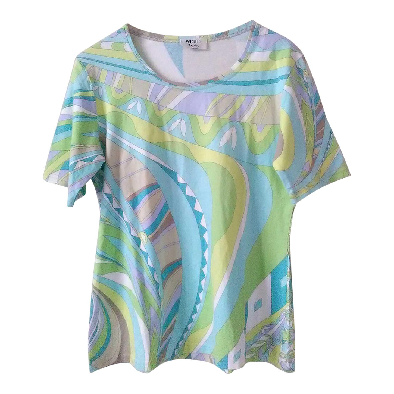 Tee-shirt en coton imprimé