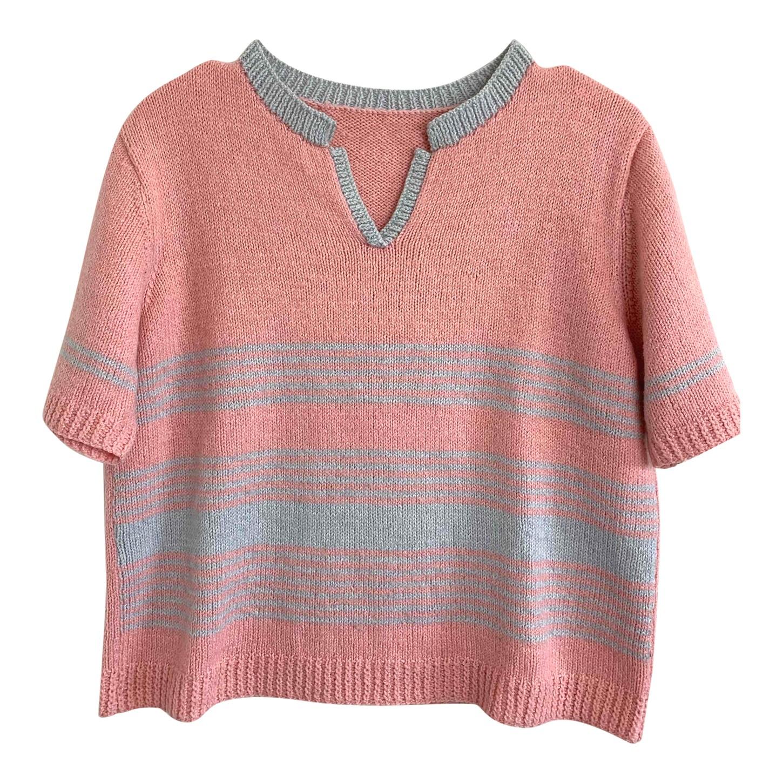 Top en laine à rayures
