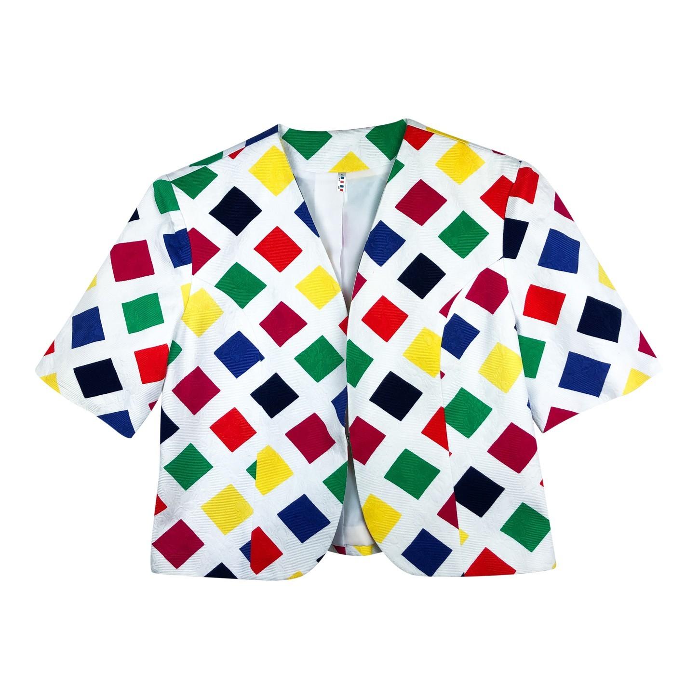 Veste courte multicolore