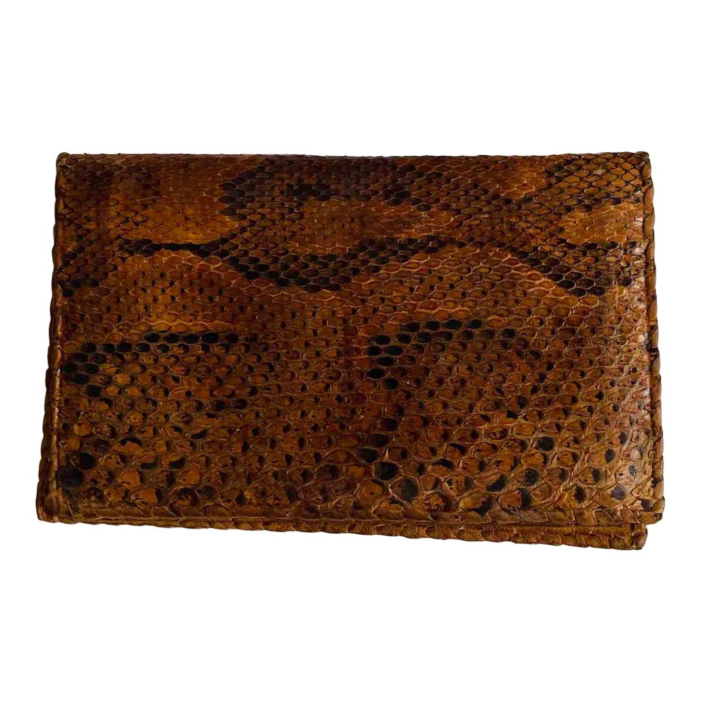 Portefeuille en cuir exotique
