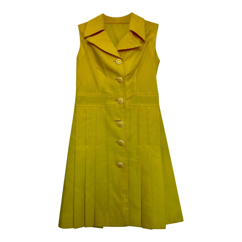Robe jaune 70s