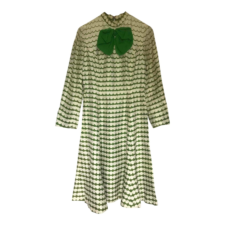 Robe trapèze en soie