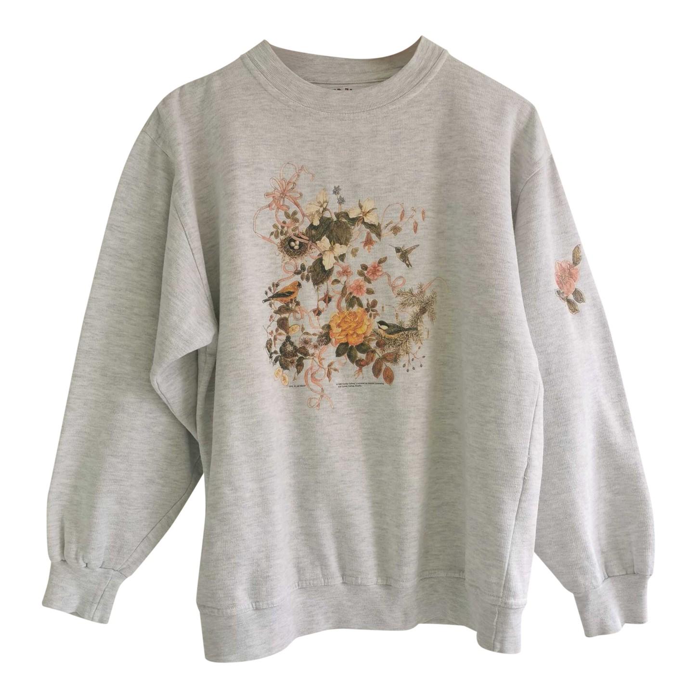 Sweat-shirt à fleurs