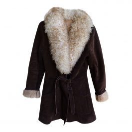 Manteau peau lainée