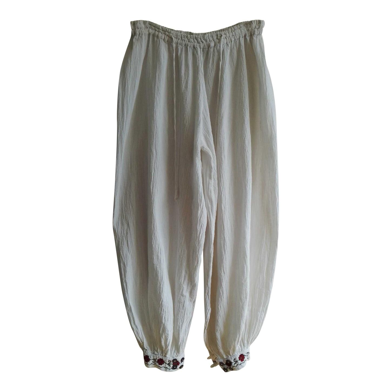 Pantalon brodé