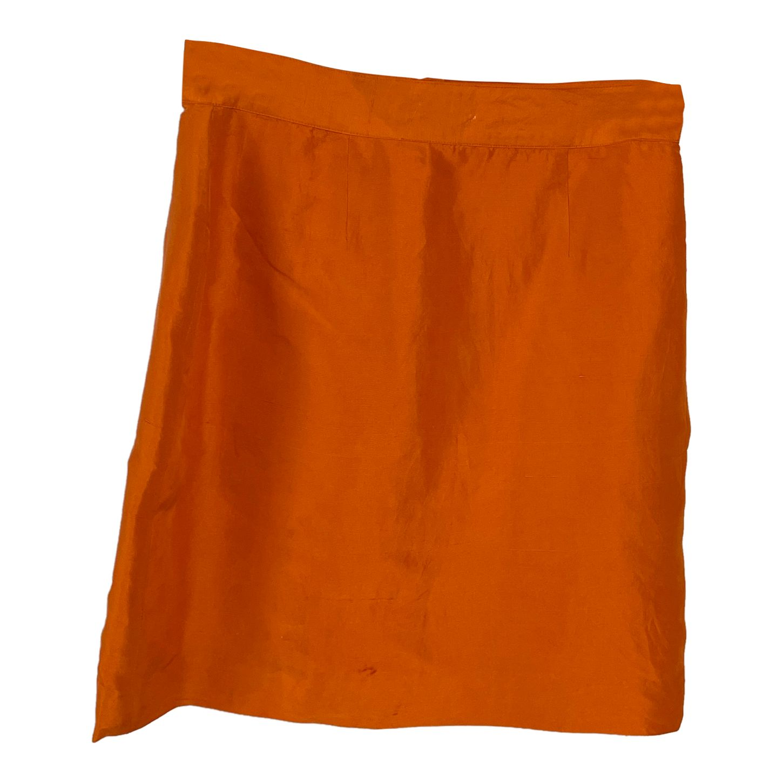 Mini jupe en soie