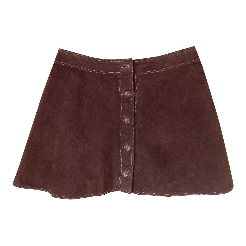 Mini jupe en cuir
