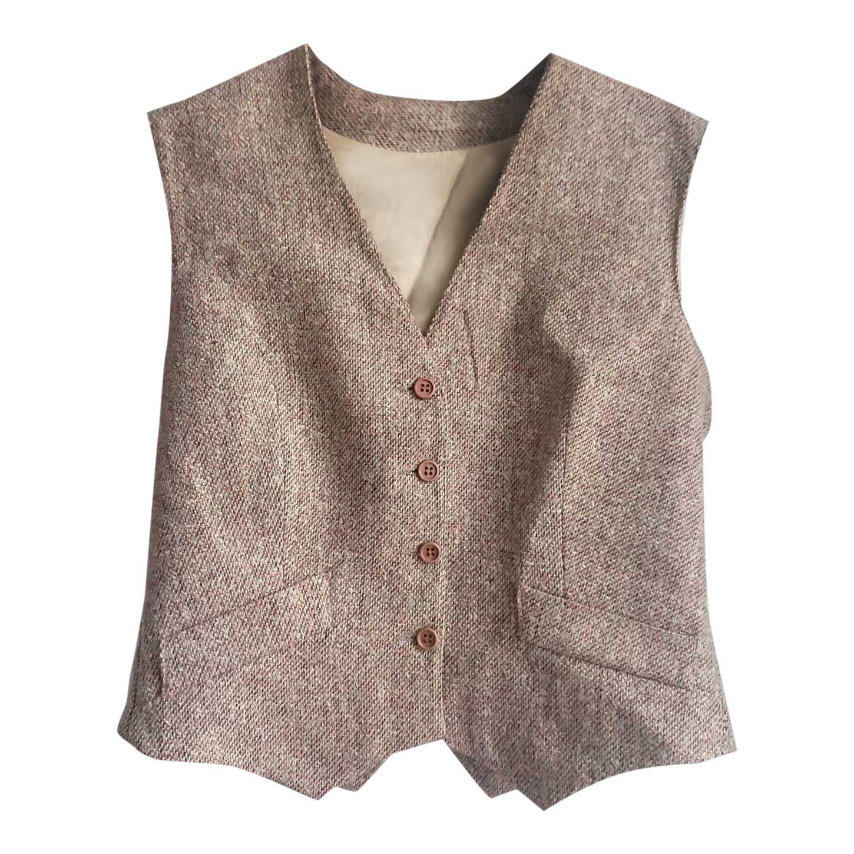 Gilet en tweed