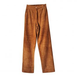 trousers in suede