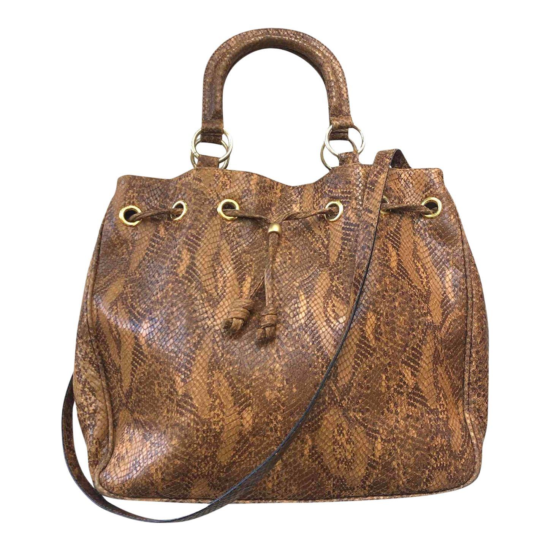 Grand sac en cuir exotique