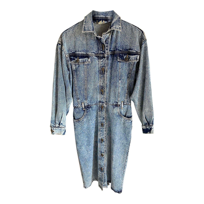 Robe en jean boutonnée